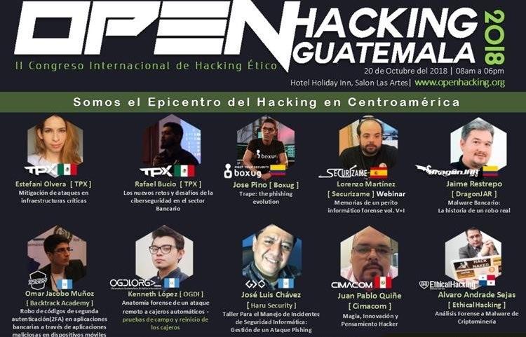 Expertos en seguridad informática participarán en el Open Hacking Guatemala. (Foto Prensa Libre: Guatemala Ciber Segura)