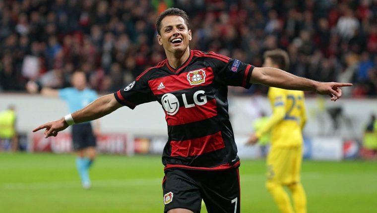 Chicharito Hernández, máximo goleador de la selección mexicana y jugador del Bayer Leverkusen. (Foto Prensa Libre: Hemeroteca PL)