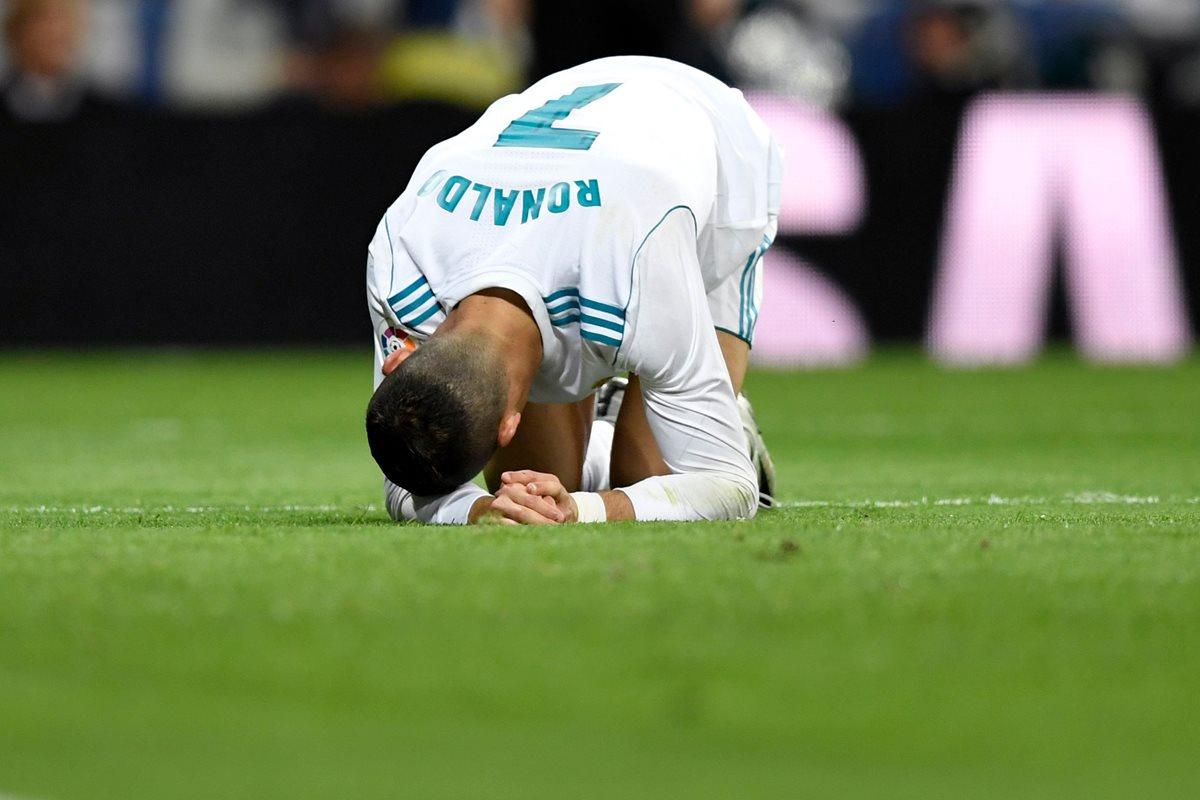 Cristiano Ronaldo lamentó en más de una oportunidad su falta de puntería frente a Las Palmas. (Foto Prensa Libre: AFP)