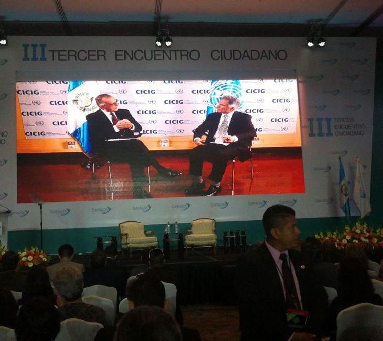 La entrevista con el jefe de la Cicig, Iván Velásquez se realizó previo al foro. (Foto Prensa Libre: Érick Ávila)