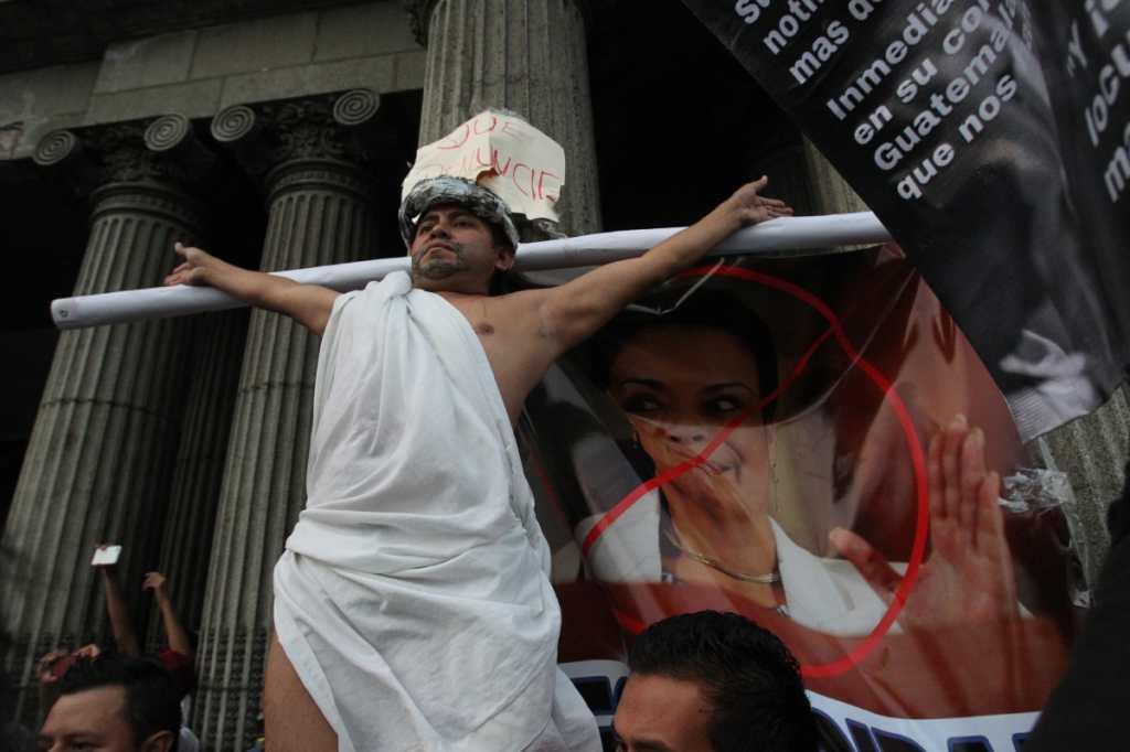 El 25 de abril de 2015 los guatemaltecos protestan contra la corrupción.