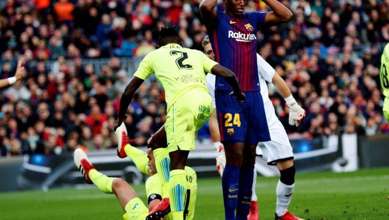 El colombiano Mina es uno de los últimos fichajes del Barcelona. (Foto Prensa Libre: AFP)