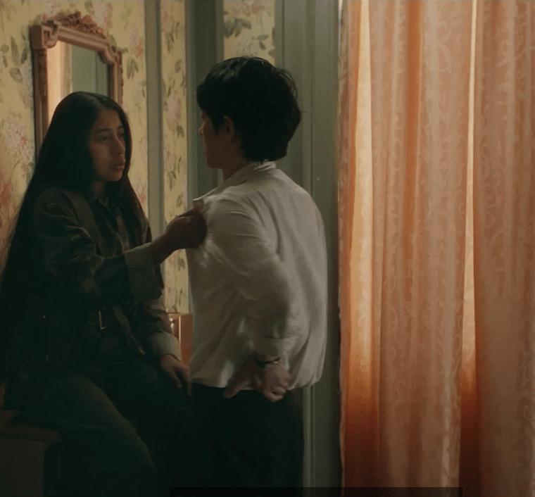 El personaje de María Mercedes Coroy tiene varias facetas en la película. (Foto Prensa Libre: Screen Media).