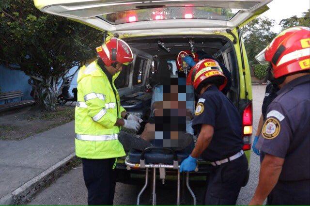 Tres de los heridos fueron trasladados al hospital Roosevelt.( Foto Prensa Libre: cortesía)