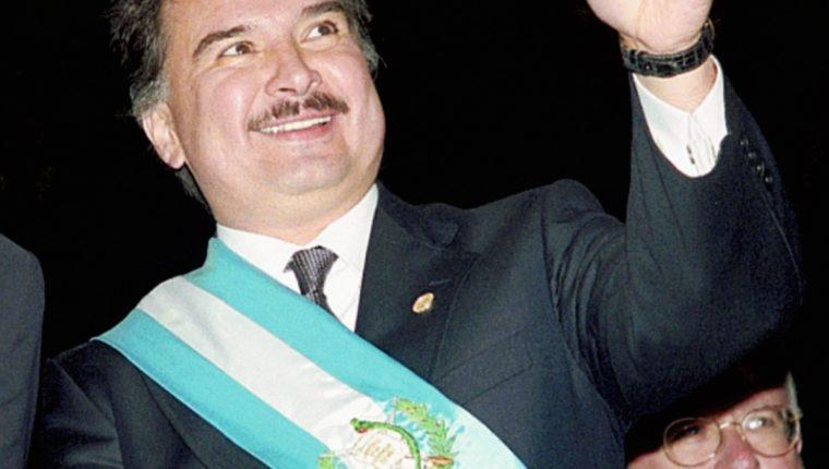 Alfonso Portillo, el 14 de enero de 2000 (Foto: Hemeroteca PL)