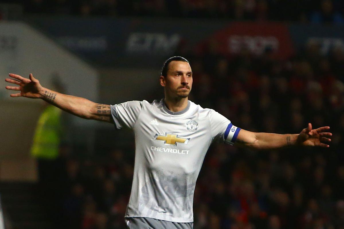 Zlatan ha jugado en grandes equipos europeos como el Manchester United y Barcelona. (Foto Prensa Libre: AFP)