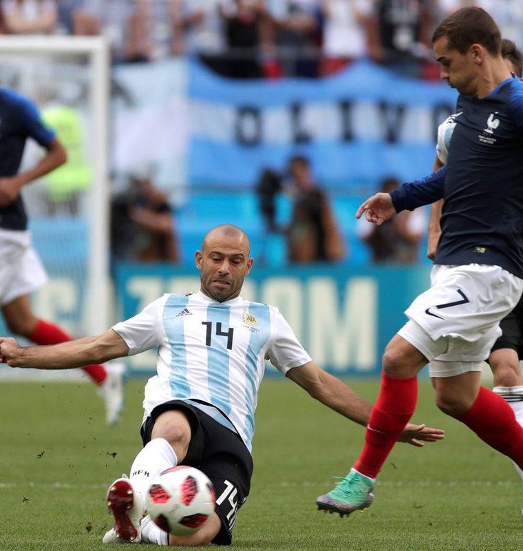 Mascherano fue uno de los mejores jugadores de Argentina. (Foto Prensa Libre: EFE)