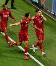 Firmino marcó el gol de la victoria para el Liverpool, en el último minuto. (Foto Prensa Libre: Twitter @LFC)