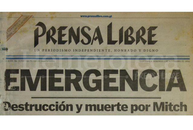 Titular de Prensa Libre del 1/11/1998. (Foto: Hemeroteca PL)