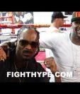 El rapero Snoop Dogg visitó el gimnasio de Floyd Mayweather donde le brindo su apoyo para la pelea frente a Cono McGregor. (Foto tomada de Internet)