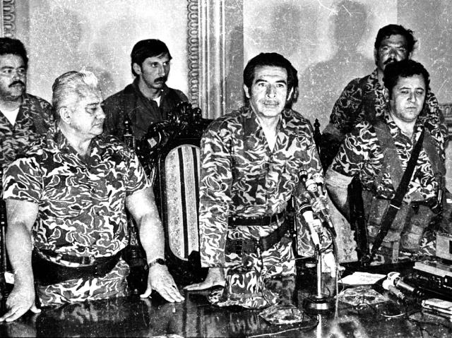 El general Efraín Ríos Montt presidió el triunvirato tras el derrocamiento de Romeo Lucas. (Foto Prensa Libre: Hemeroteca PL)
