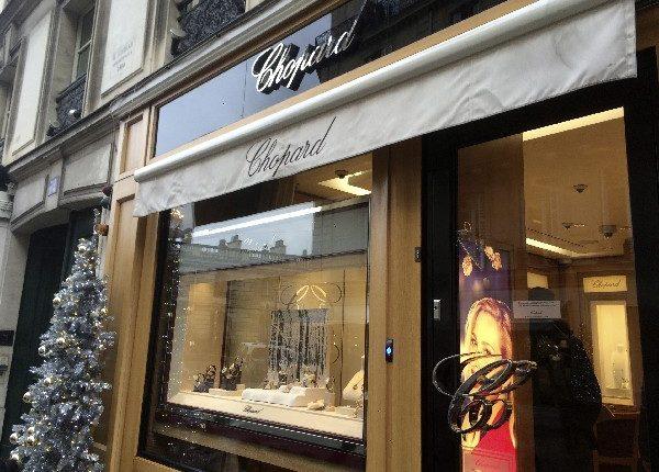 Una joyería de la firma Chopard fue asaltada en París.
