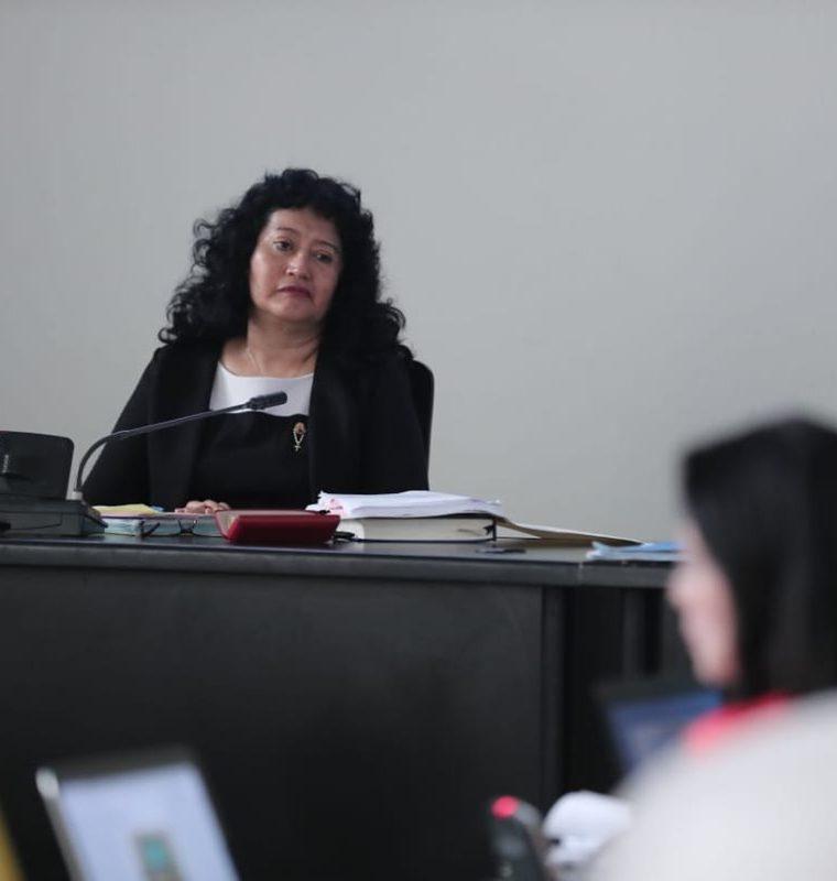 Jazmín Barrios preside el Tribunal de Mayor Riesgo A.  (Foto Prensa Libre: Juan Diego González)
