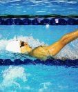 Gisela Morales, captada en la final de 100 metros dorso. (Foto Prensa Libre: Cortesía del COG)