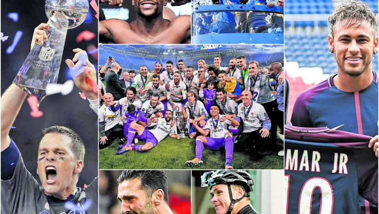 Estas imágenes resumen el año 2017 del mundo deportivo. (Foto Prensa Libre: Hemeroteca PL)
