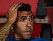 Carlos Tévez perdió la titularidad y podría tener los días contados en el futbol de China. (Foto Prensa Libre: Twitter)