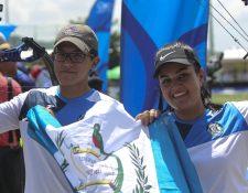 Marcelo del Cid y Sofía Paiz, ganaron el oro por equipos mixtos en Barranquilla 2018. (Foto Prensa Libre: Cortesía ACD)