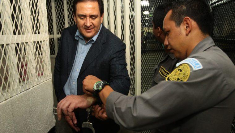 Gustavo Alejos, cuando fue detenido en diciembre de 2015. (Foto Prensa Libre: Hemeroteca PL)