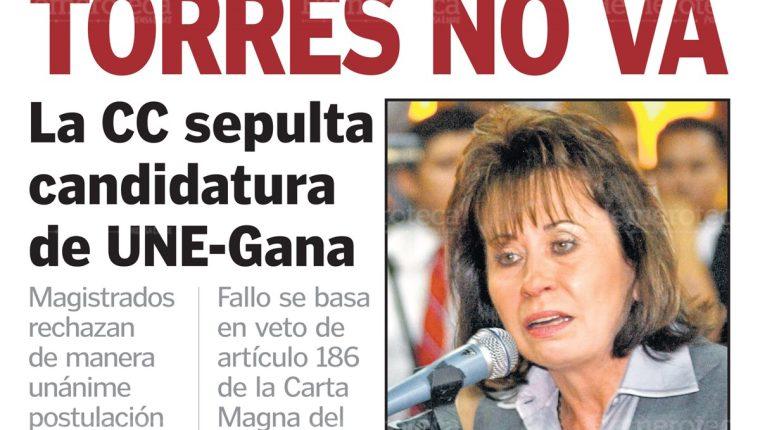 Sandra Torres no participó en las elecciones de 2011. (Foto: Hemeroteca PL)