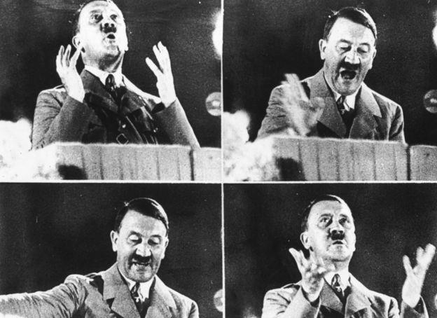 Hitler tenía una mala dentadura, según los patólogos.GETTY IMAGES