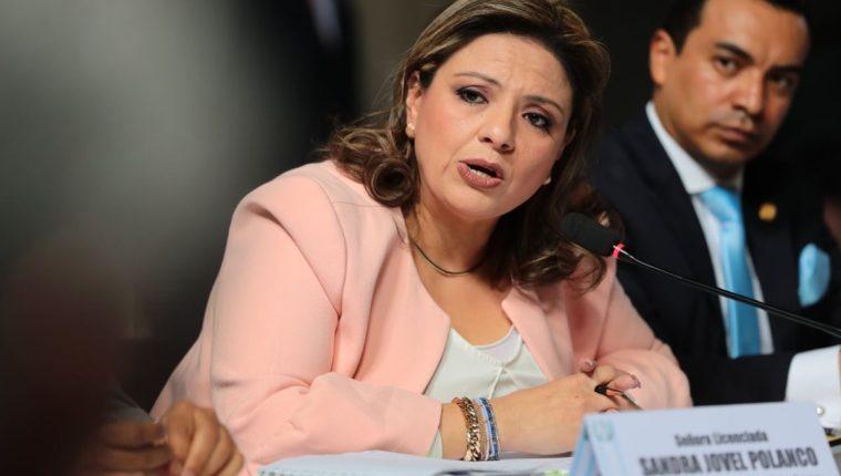 La canciller Sandra Jovel fue citada por el Frente por la Transparencia y fue cuestionada sobre las diferencias que el Gobierno ha manifestado tener con la Cicig. (Foto Prensa Libre: Álvaro Interiano)