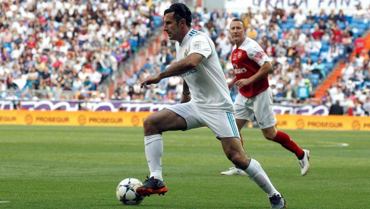 Luis Figo asegura que el Real Madrid es el mejor club para jugar. (Foto Prensa Libre: AFP)