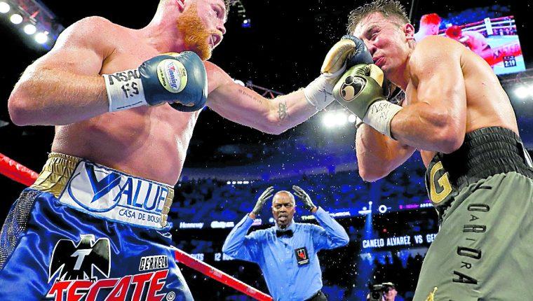 El pasado 16 de septiembre, Saúl Canelo Álvarez y Gennady Golovkin se enfrentaron. (Foto Prensa Libre: Hemeroteca PL)