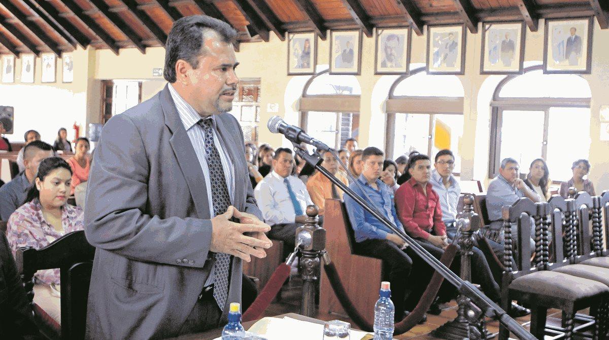 José Domingo Trejo, durante una vista pública en la Corte de Constitucionalidad. (Foto Prensa Libre: Hemeroteca PL)