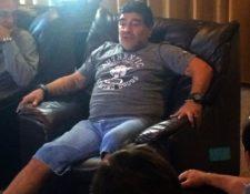 Diego Armando Maradona confesó que tiene 13 años sin consumir drogas. (Foto Prensa Libre:Hemeroteca)