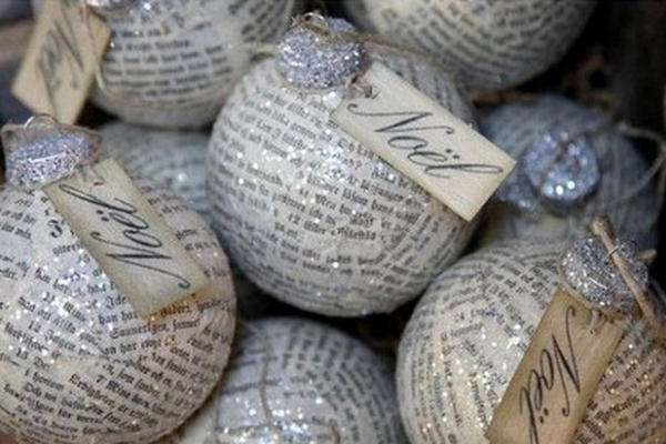 Esferas De Navidad Hechas Con Papel Periódico Prensa Libre
