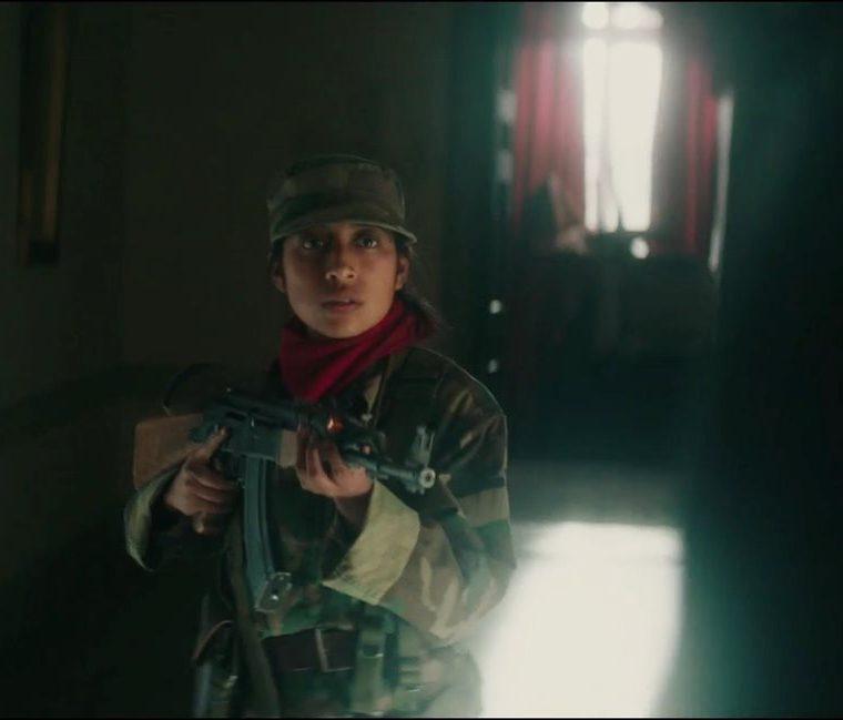 María Mercedes Coroy empezó a trabajar en la película en febrero del 2017 y tuvo que recibir un taller en manejo de armas para el papel. (Foto Prensa Libre: Screen Media).
