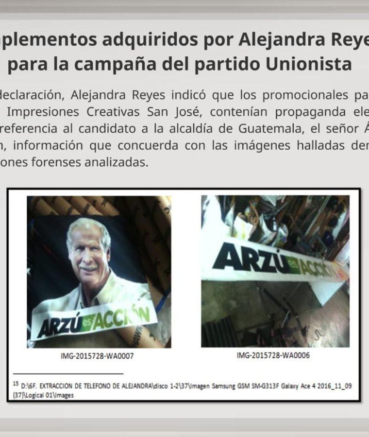 Promocionales adquiridos con la empresa Impresiones Creativas San José. (Foto Prensa Libre: Cicig).