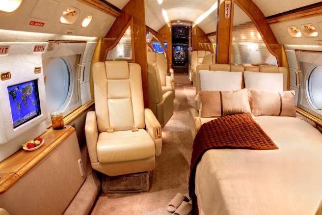 El avión de Lionel Messi cuenta con grandes comodidades. (Foto Prensa Libre: Redes)
