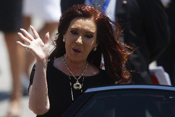 Cristina Fernández presidenta de Argentina.