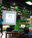 La psicóloga Paulina Buonafina dicta la charla El maravilloso mundo de la arteterapia, en Artemis Pradera Concepción. (Fotos Prensa Libre, Brenda Martínez)