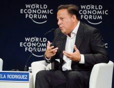 El presidente panameño Juan Carlos Varela durante el reciente Foro Mundial Económico (Hemeroteca PL)