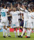 Los jugadores del Real Madrid volvieron a dar alegría a los aficionados en el estadio Santiago Bernabéu. (Foto Prensa Libre: EFE)