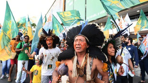 La propuesta del PSL se ha encontrado con la oposición de grupos indígenas brasileños que han protagonizado varias manifestaciones durante la campaña electoral. AFP