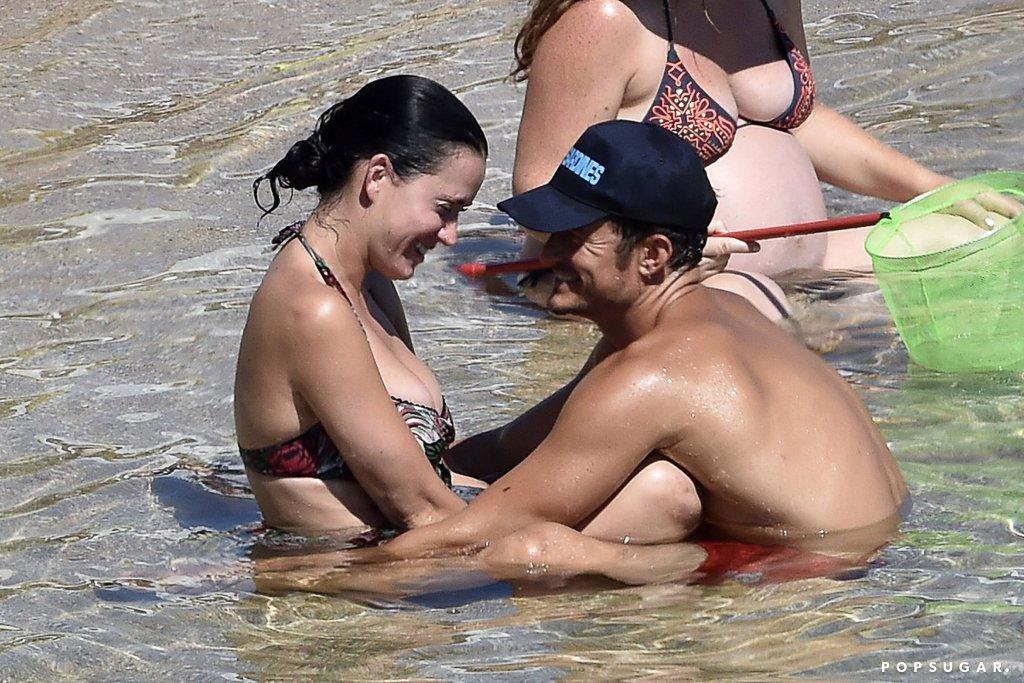 Bloom y Perry fueron captados por paparazzi en la playa. (Foto Prensa Libre: Hemeroteca PL)