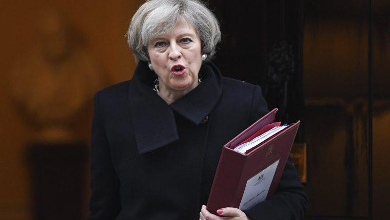 Theresa May, primera ministra británica. (Foto Prensa Libre: EFE).