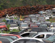 Se calcula que hay 20 mil vehículos en los seis predios del área metropolitana, aunque el problema es a escala nacional, según la PNC.
