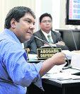 El abogado Luis López Coronado declara en el Juzgado Quinto Penal. (Foto Prensa Libre: Paulo Raquec)