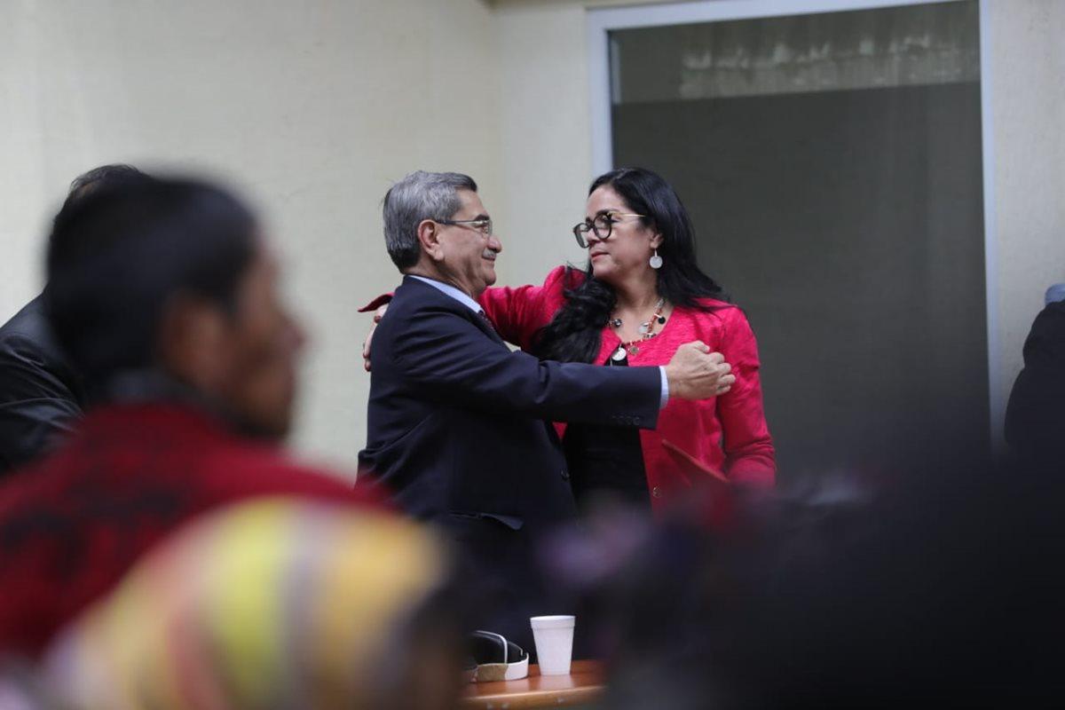 El general retirado reacciona después de escuchar la sentencia. (Foto Prensa Libre: Estuardo Paredes)