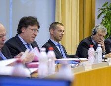 El Comité de la Uefa se reunió este viernes en Nyon. (Foto Prensa Libre: Twitter Uefa)