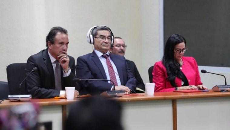 General retirado Mauricio Rodríguez Sánchez, durante la sentencia. (Foto Prensa Libre: Estuardo Paredes)