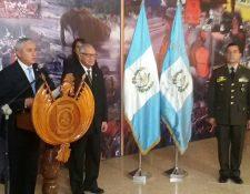 Ceremonia de juramentación del nuevo ministro. (Foto Prensa Libre. Esvin García)