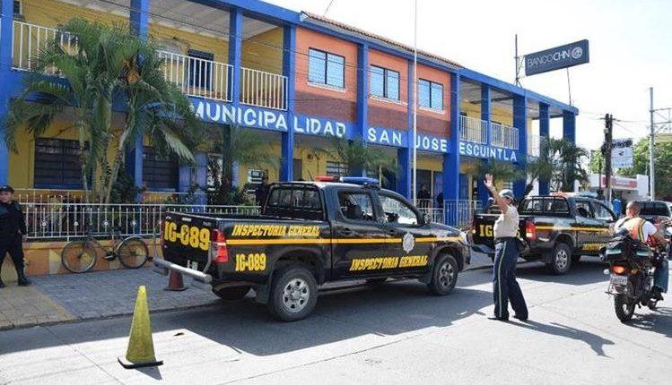 Fachada de la municipalidad de Puerto San José, Escuintla. (Foto Prensa Libre: Enrique Paredes)