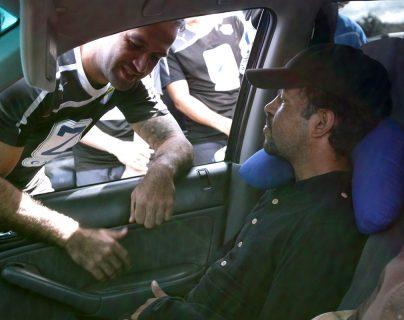 José Contreras y Chicho Bradley, después del entrenamiento crema. (Foto Prensa Libre: Norvin Mendoza)