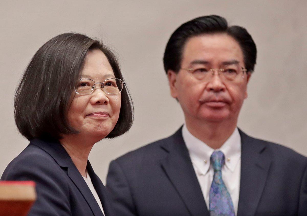 La presidenta de Taiwán manifestó su interés de fortalecer las relaciones de cooperación con los países del SICA. (Foto Prensa Libre: EFE)