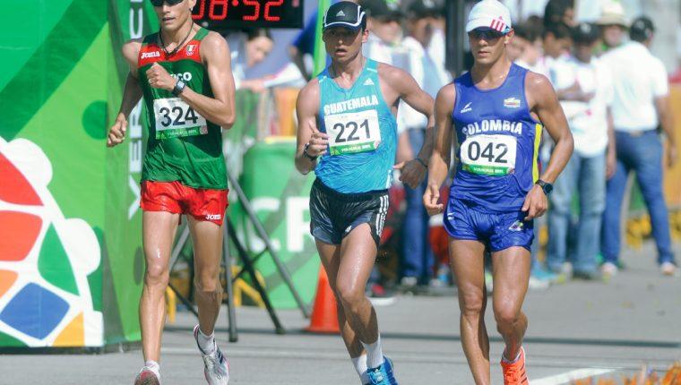 Erick Barrondo durante su participación en los Juegos Centroamericanos y del Caribe, en México:(Foto Prensa Libre:Eduardo González)